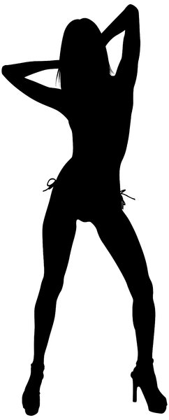 Silhouette Pose 44: Vector Art