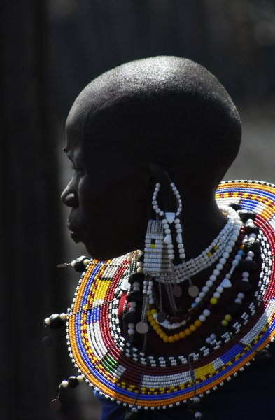 Portrait of a Masai woman: Portrait of a Masai woman in Tansania, close to Ngorongoro crater