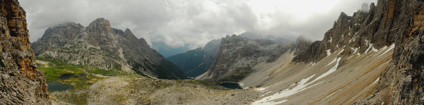 Panorama in Dolomites
