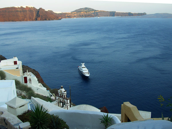 Images of Santorini: Beautiful landscape of island Santorini, Greece, Aegean sea