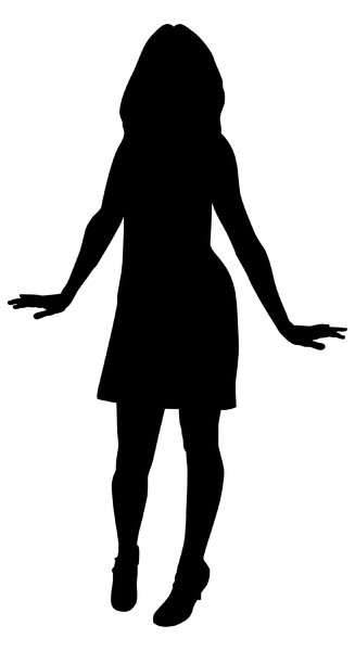 Silhouette Pose 1: Youth's silhouette in vector