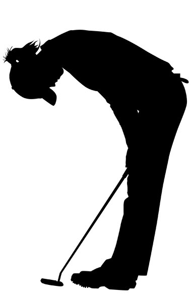 Golfer Girl1: Vector Art