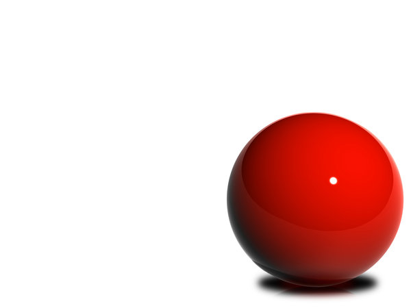 Glossy Ball 1: A set of 5 images made from red glossy balls.