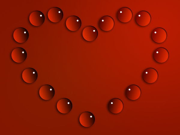 Drops of Heart: water droplets arranged to form a heart. Set of 5 colorsPlease comment