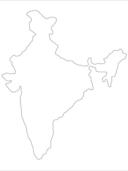 India outline map: outline map of India