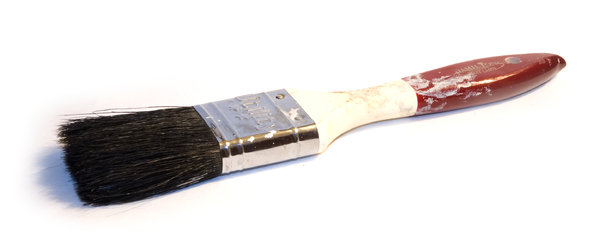 Painted brush: A used paintbrush.NB: Credit to read