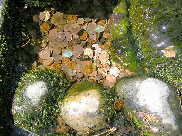 Coins in the water 2