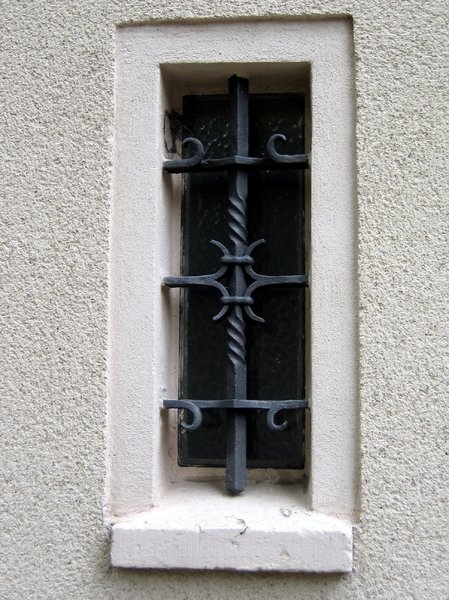 wrought-iron window