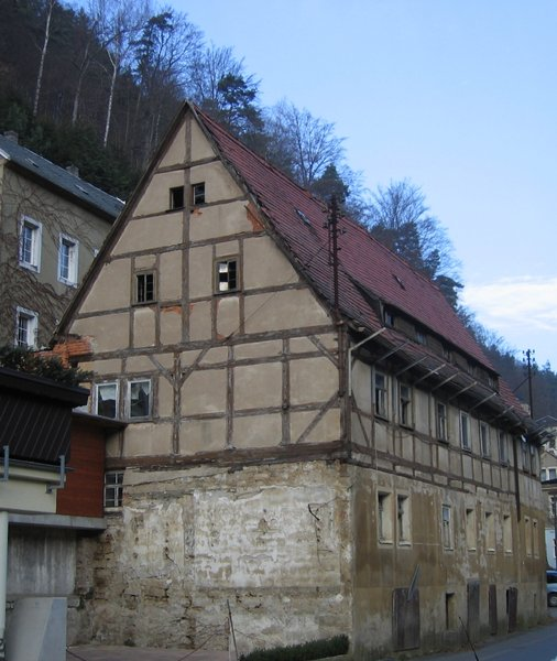 old half-timbered house: old half-timbered house