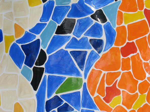 shiny colorful mosaic texture