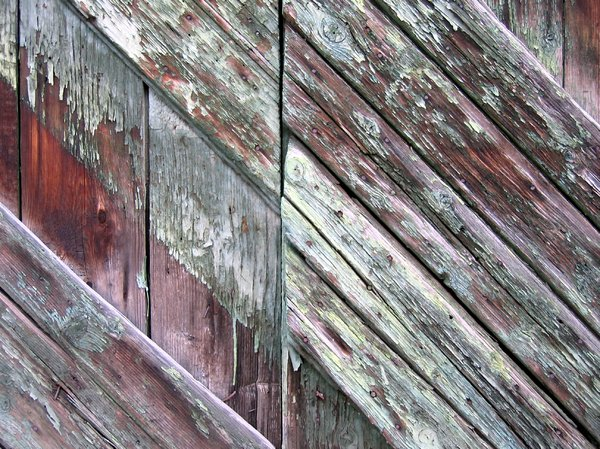 old diagonal wood balks textur