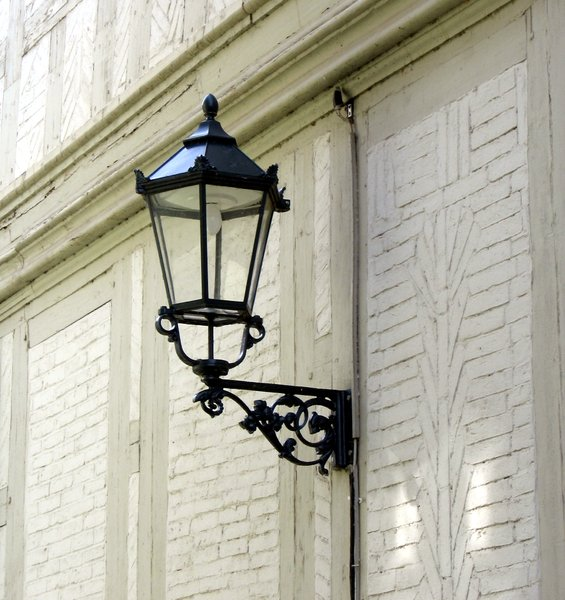 old wrought-iron street lamp