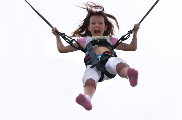 Bungy Ride: My daughter on a ride at a local fair (Mid Res)Comments Welcome Please :)