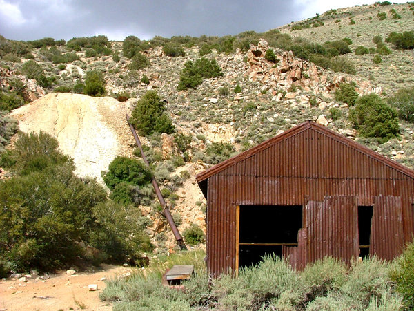 Old mine ruin: Taken in August 2009, Nevada, USA.