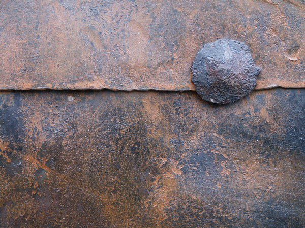 Ancient door metal plates