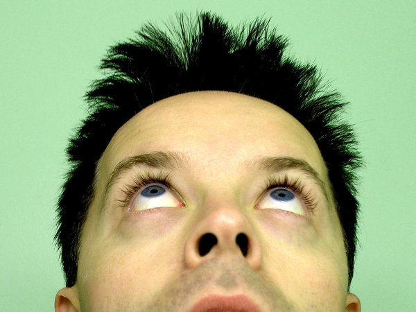 Face - things are looking up?: This guy has a lot on his mind. :-)