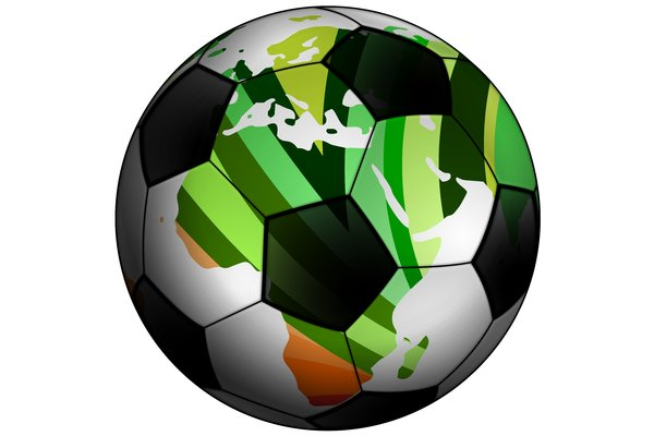 Classic Soccer Ball 3: Classic black and white ball for the football (soccer).