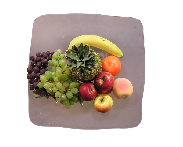 Fruit plate: Some fruits.