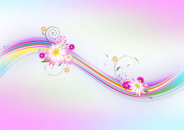 Floral Abstract Background  - : Floral Abstract Background  Soft colors