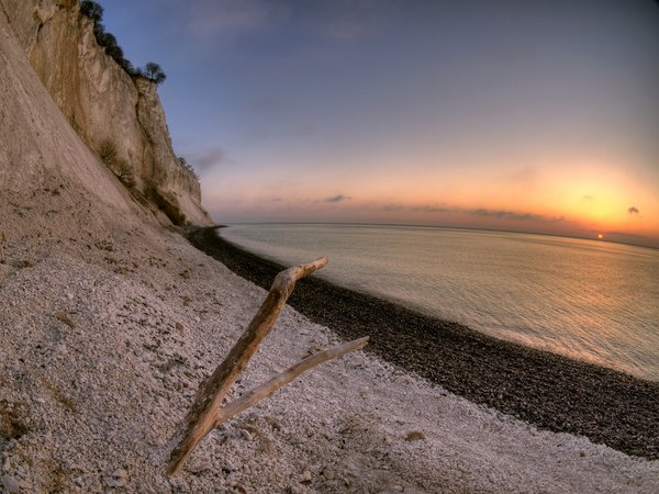 "Moens Klint - HDR: The cliff: ""Moens Klint"" is more than 120 meters high and is all chalk. Fisheye lens. The picture is HDR using 7 images"