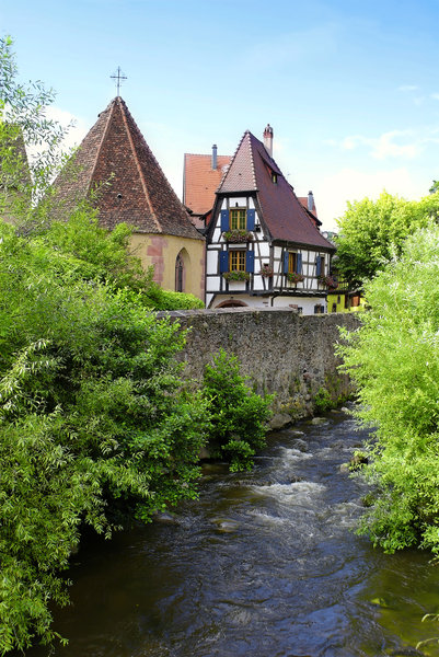 Traditional house: A view of Kaysersberg, Alsace - France