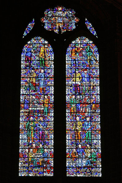 Modern cathedral window