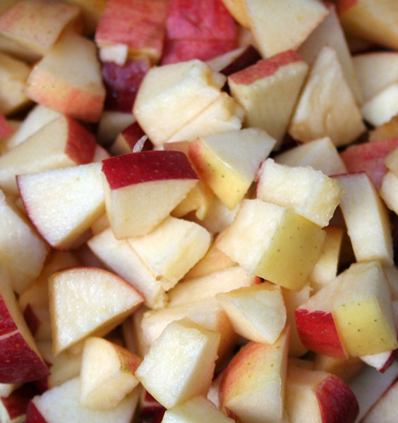 APPLE SALAD FIXIN'S: FIRST STEP IN MAKING AN APPLE SALAD