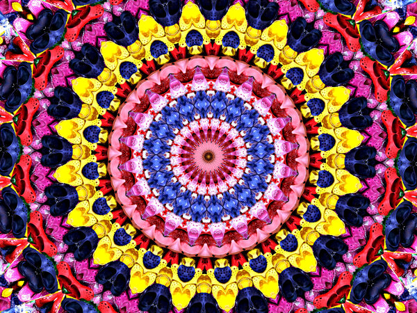 shoe flower mandala: abstract backgrounds, textures, patterns, geometric patterns, kaleidoscopic patterns, circles, shapes and  perspectives from altering and manipulating images