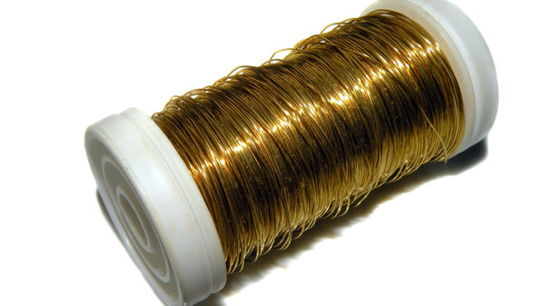 A roll of golden thread