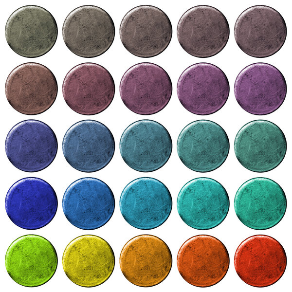 Grungy Buttons: A set of grungy web buttons. Visit me at Dreamstime: 