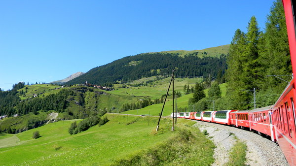 Glacier Express: Some shots of the Glacier Express from Zermatt to St. Moritz in Switzerland.