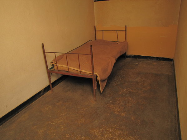 prison bed: prison cell - from the Communism victims Memorial in Sighet Romania