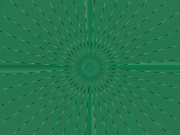 radiating green pulse