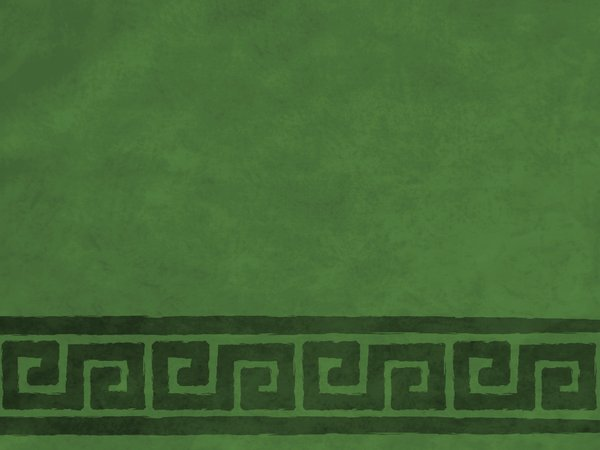 Green Textured Border: Parchment textured background with rich green scrolls border.  Lots of copyspace.