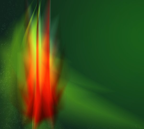 Flame: flame on green background illustration.