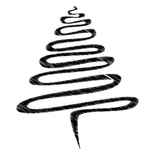 Black Scribble Xmas Tree