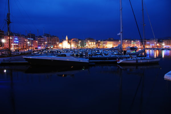 marseille bay by night