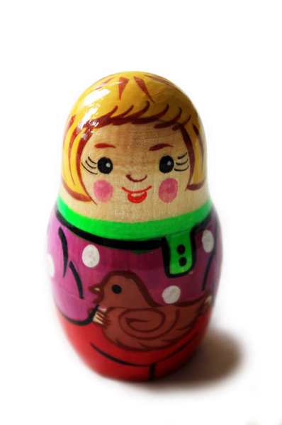 Little wooden doll: A single Russian doll
