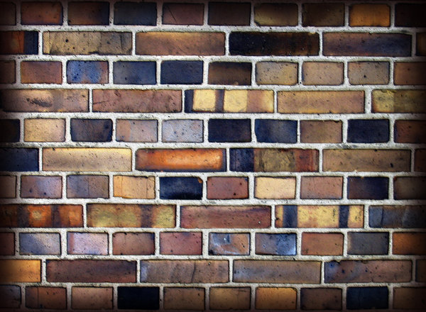 Brick Wall 1: Variations on a brick wall collage.