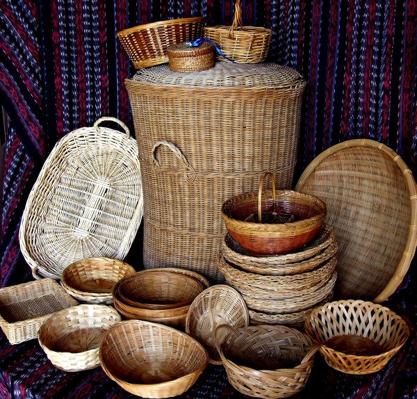 basket case: variety of shapes and sizes in baskets