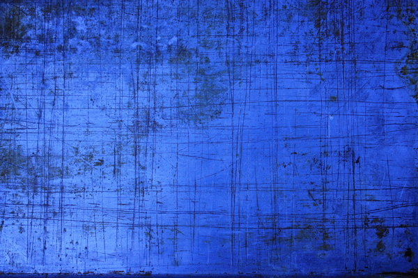Scratched metal: The wrong setting on the camera produced this blue version of a scratched metal baking tray