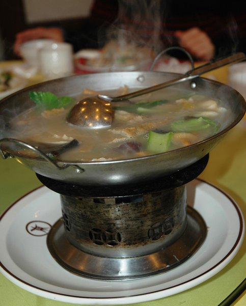 Chinese soup: chinese soup eaten in Beijing,China