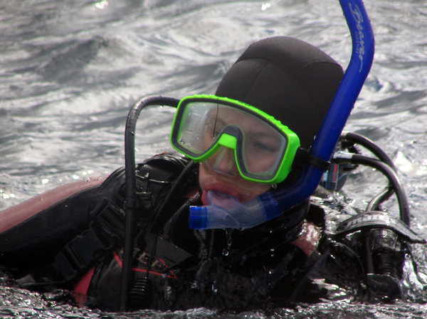 Scuba Diver on surface 2