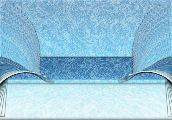 background wave: blue background with a rendered wave