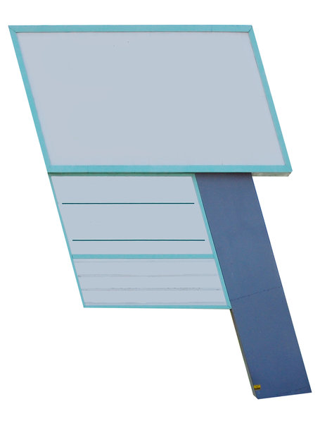 Left-angled multi-panel sign