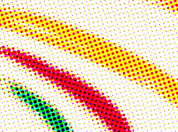 Dots 2: A couple of color halftone dot patterns.