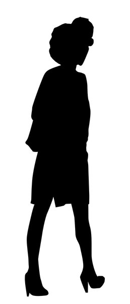 A model silhouette: Silhouette of a woman.
