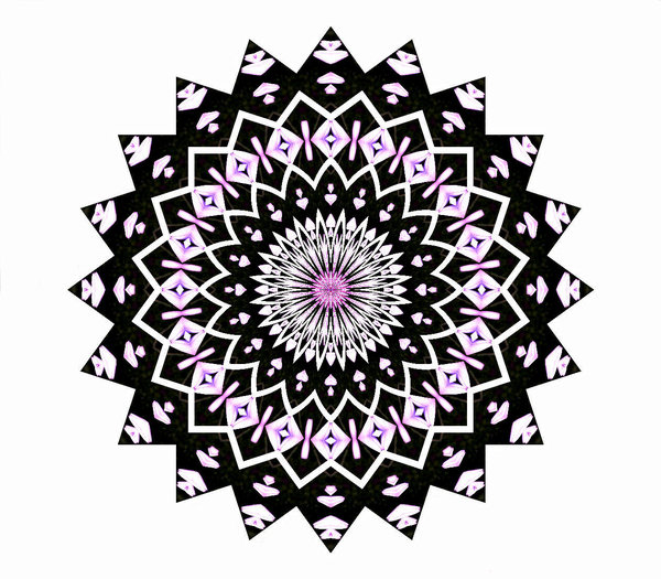 pink and black pointed: abstract backgrounds, textures, patterns, geometric patterns, kaleidoscopic patterns, circles, shapes and  perspectives from altering and manipulating image