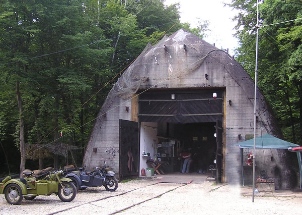 Train bunker: A train shelter in Konewka, Poland. Over 200 meters long.