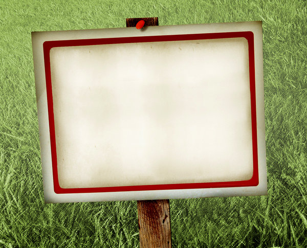 Yard Sign: An illustration of a blank yard sign.